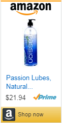 Passion Lubes, Natural Water-Based Lubricant, Petrochemical, Glycerin and Paraben free